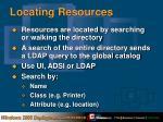 locating resources