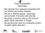 four universities one view
