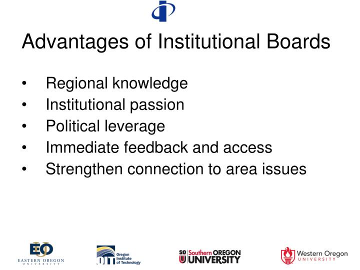 Advantages of Institutional Boards