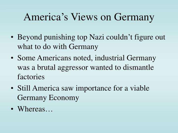 America's Views on Germany
