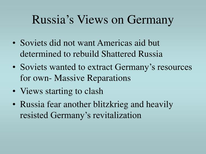 Russia's Views on Germany