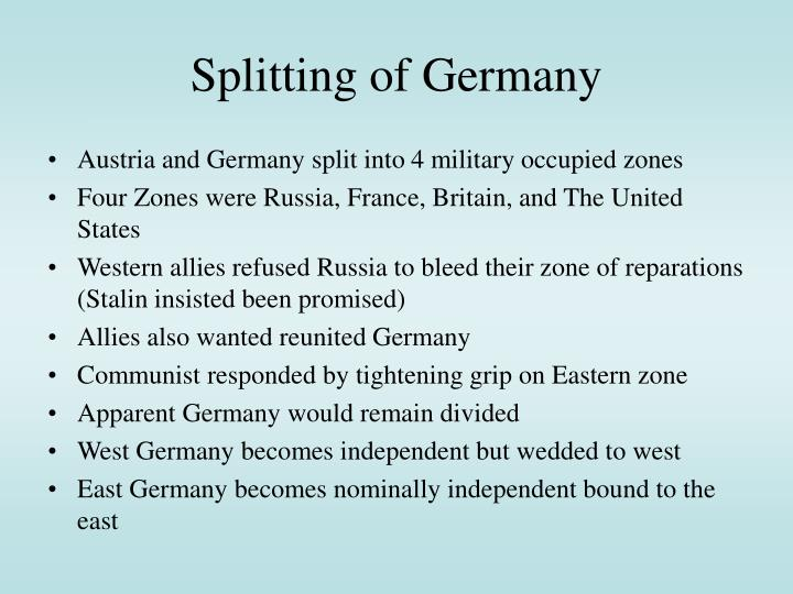 Splitting of Germany