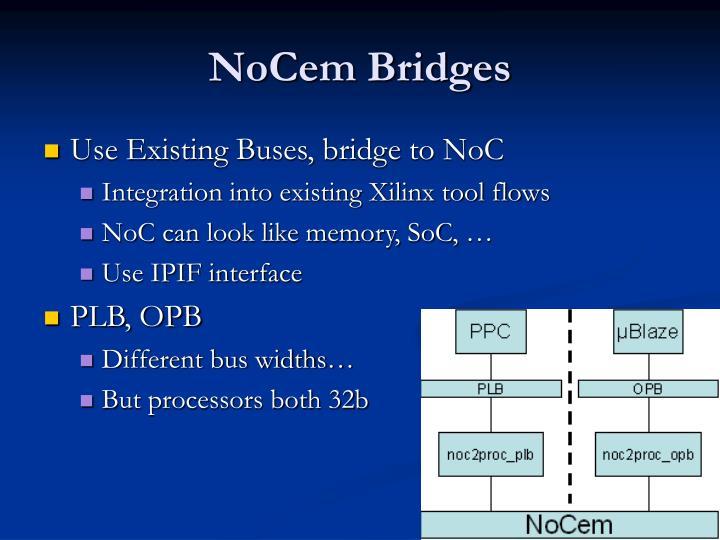 NoCem Bridges