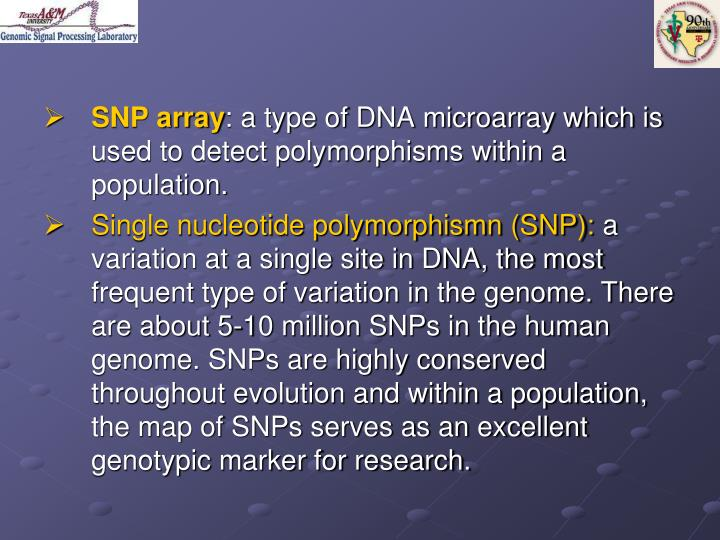 SNP array