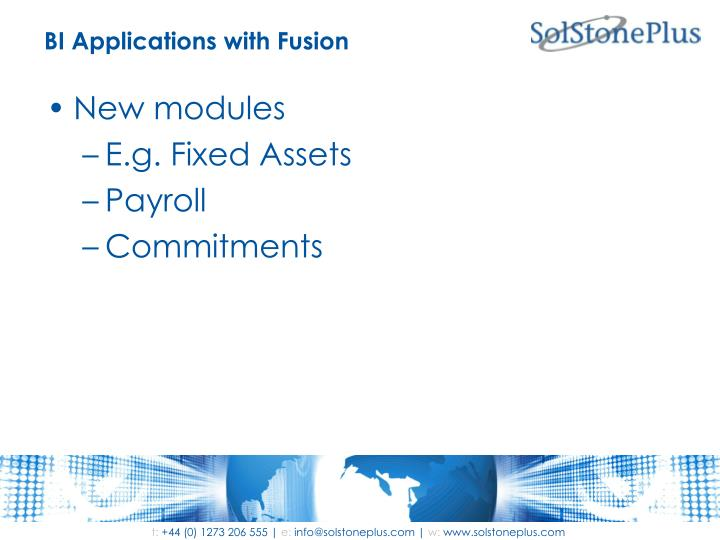 BI Applications with Fusion