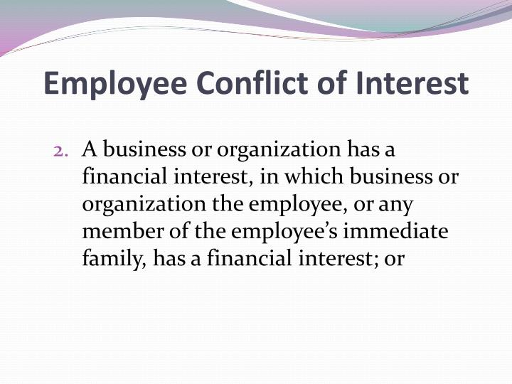 Employee Conflict of Interest
