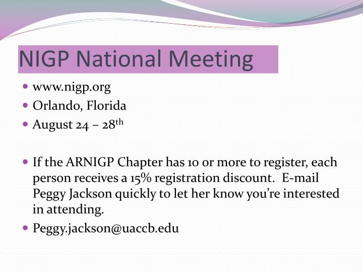 NIGP National Meeting