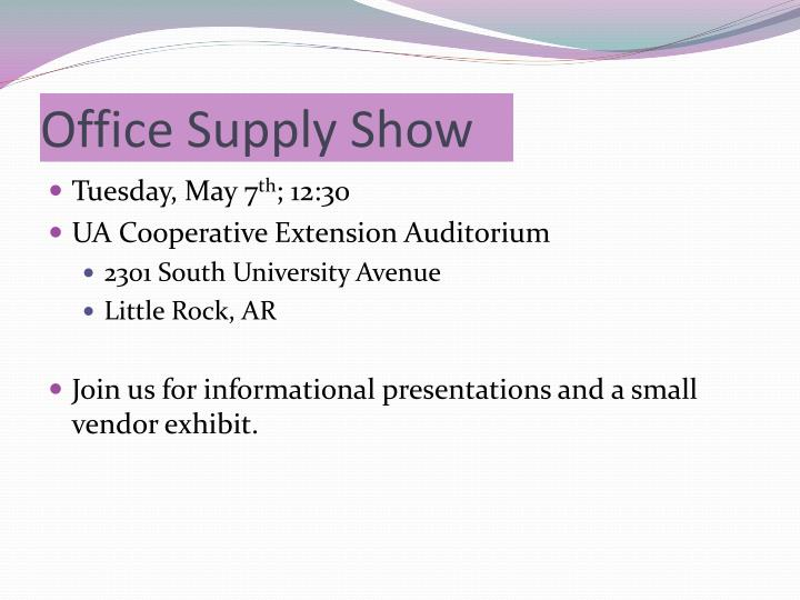 Office Supply Show