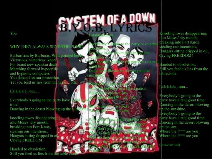 b.y.o.b. lyrics