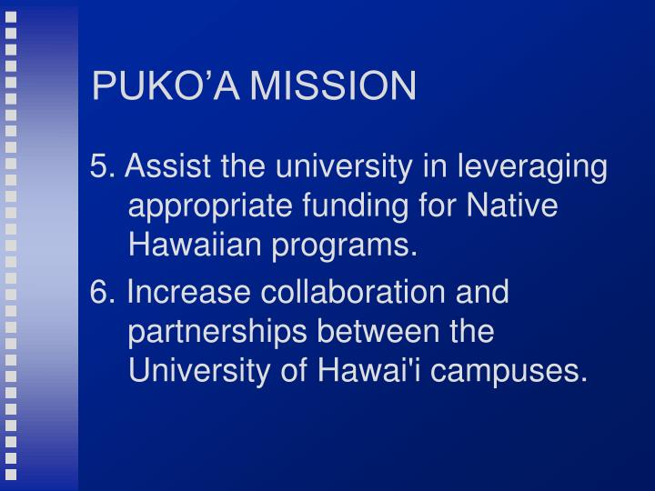PUKO'A MISSION