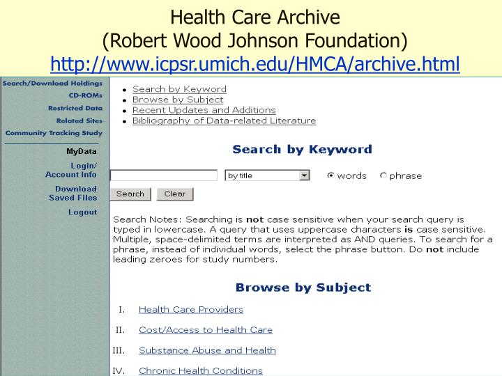 Health Care Archive