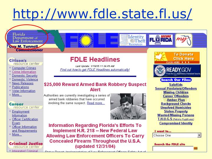 http://www.fdle.state.fl.us/