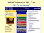 national transportation safety board http www ntsb gov