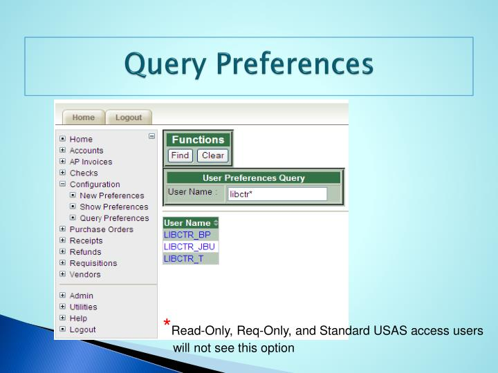 Query Preferences