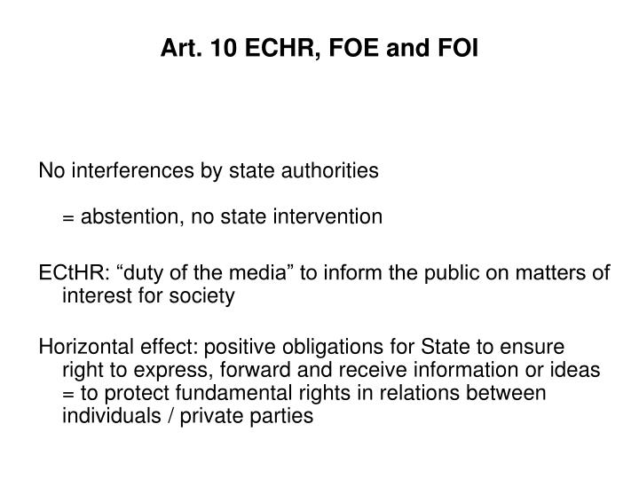 Art 10 echr foe and foi1