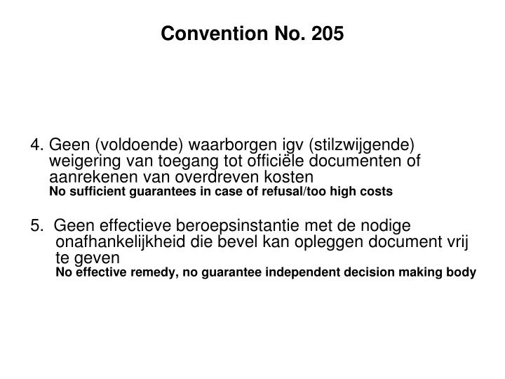 Convention No. 205