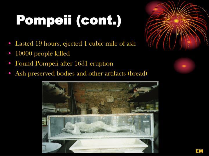 Pompeii (cont.)