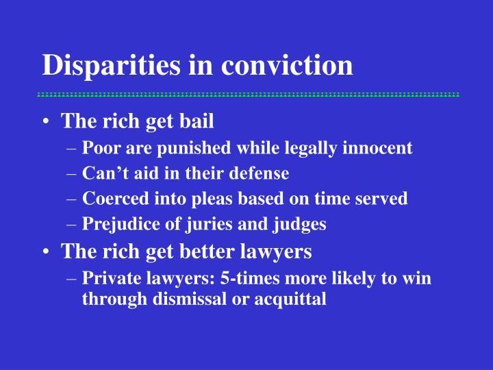 Disparities in conviction
