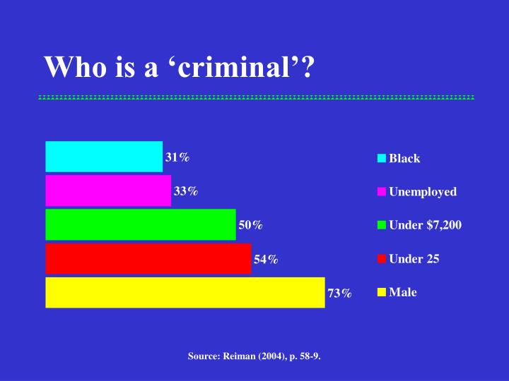 Who is a 'criminal'?