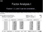 factor analysis i2