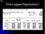 time lagged regressions i