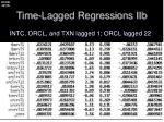 time lagged regressions iib