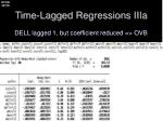 time lagged regressions iiia