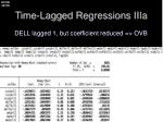 time lagged regressions iiia1