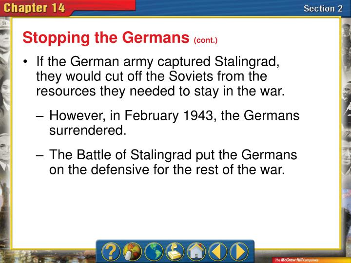Stopping the Germans