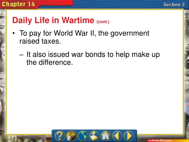 Daily Life in Wartime