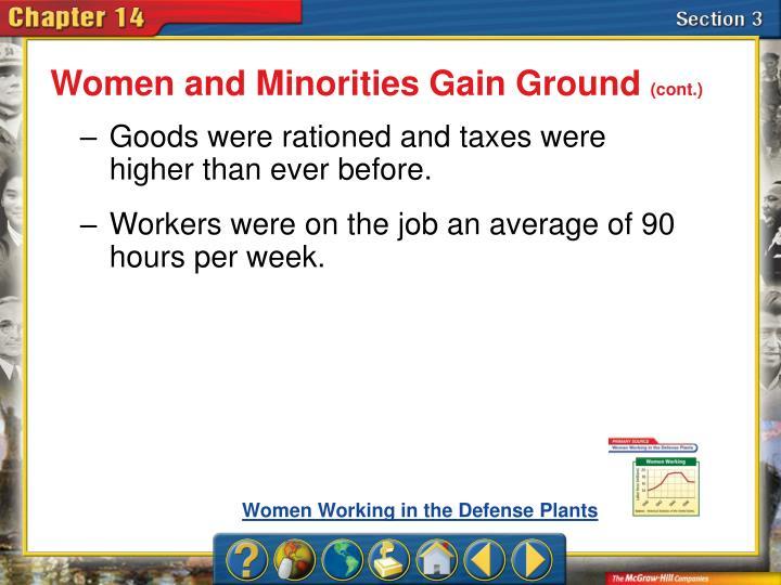 Women and Minorities Gain Ground