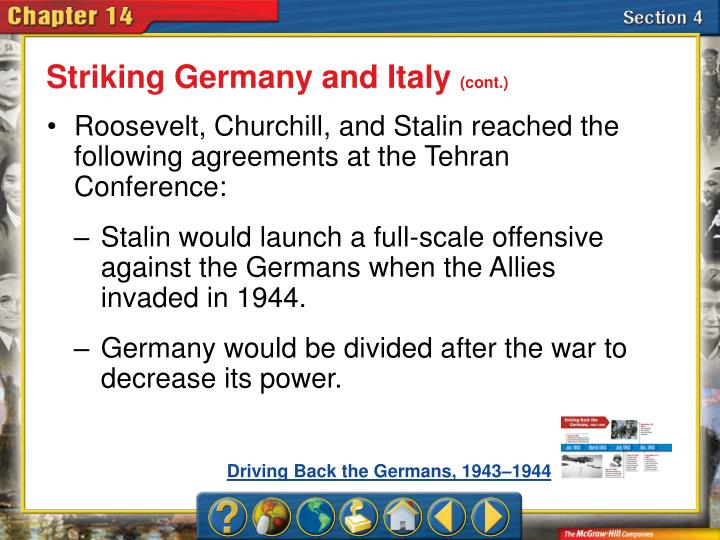 Striking Germany and Italy