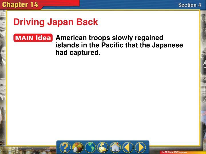 Driving Japan Back