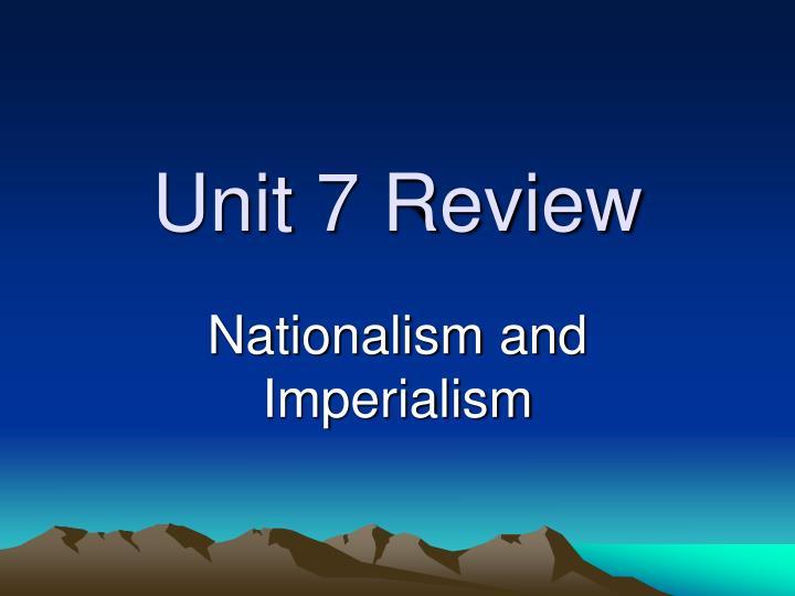 unit 7 review