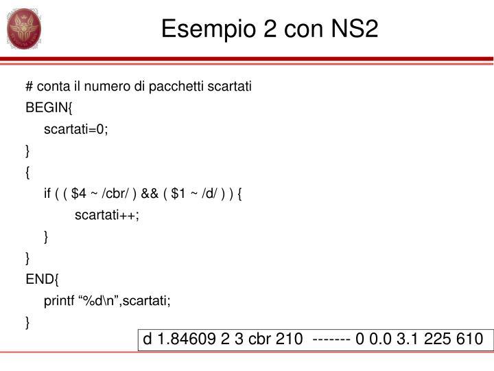 Esempio 2 con NS2