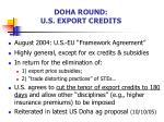 doha round u s export credits