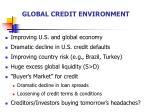 global credit environment