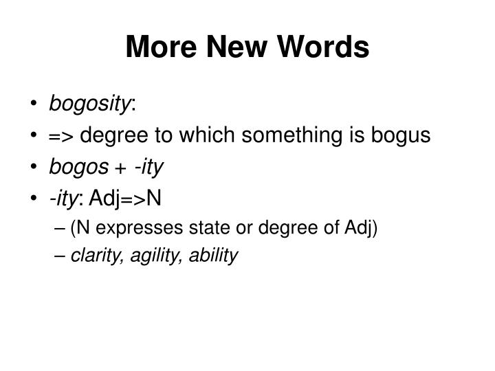 More New Words