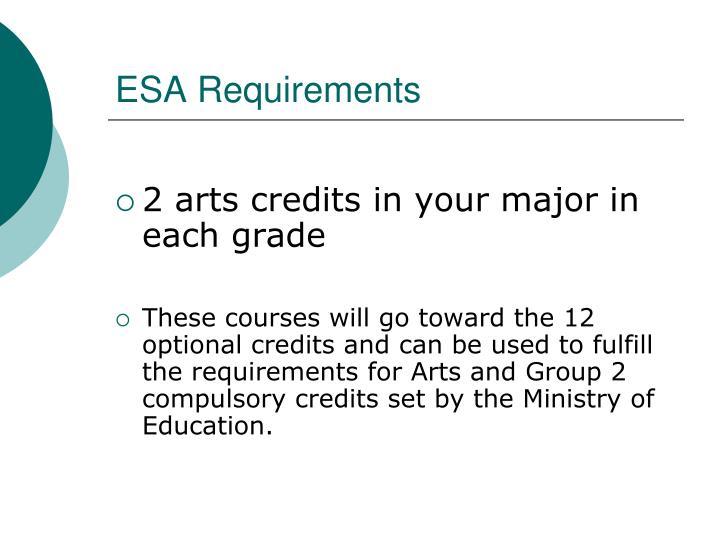ESA Requirements