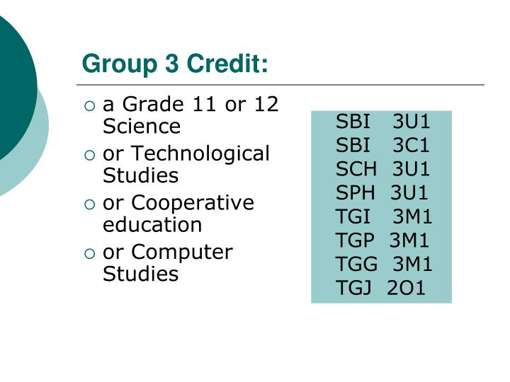 Group 3 Credit: