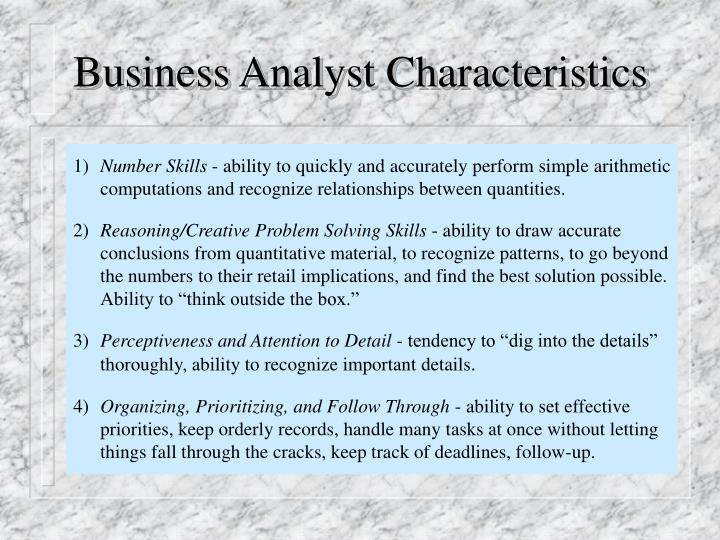 Business Analyst Characteristics