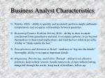 business analyst characteristics