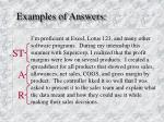 examples of answers3