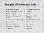 examples of performance skills