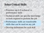 select critical skills1