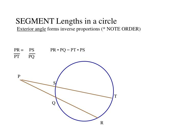 SEGMENT Lengths in a circle
