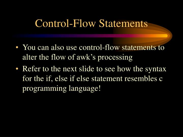 Control-Flow Statements