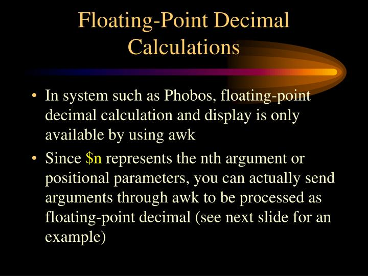 Floating-Point Decimal Calculations