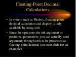 floating point decimal calculations