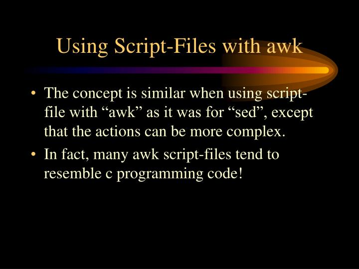 Using Script-Files with awk